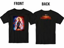 NEW CAPTAIN MARVEL MOVIE 2019 T SHIRT S-2XL MEN OR WOMEN FRONT BACK USA SIZE