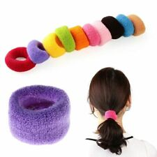 Band Ponytail Hair Holder Tie Rope Women 5pcs Fashion Wide Soft Rubber Elastic