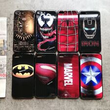 Luxury Marvel Avengers Tempered Glass Phone Case for all iPhone Versions