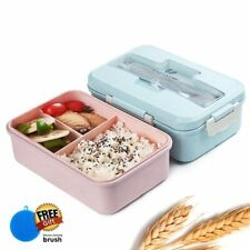 Japanese Bento Lunch Box FOOD-GRADE BPA Free Dinnerware With Spoon Chopsticks