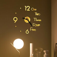 DIY Wall Clock 3D Mirror Surface Sticker Decoration Home Office Decor Clock DAE