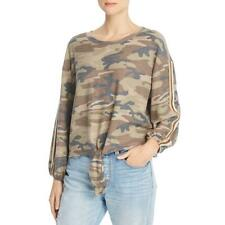 Vintage Havana Womens Camouflage Tie Front Pullover Top Shirt BHFO 7200