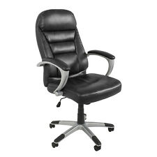 [NEW] Isaac Office Task Chair High-Back Ergonomic Swivel Leather Adjustable Seat