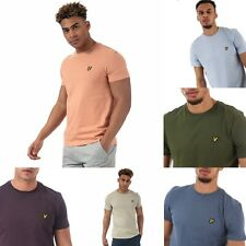 Mens Lyle And Scott Plain Short sleeve Crew neck T-Shirts in Blue, Green, Coral