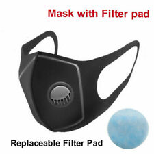 Shield PM2.5 Air Purifying Shield Mouth W/ 10x Filters Dust Haze Fog Reusable UK