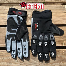 STERN MTB BMX MX motocross GLOVES black new ALL SIZES