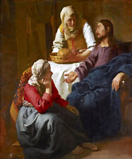 CHRIST IN THE HOUSE OF MARY AND MARTHA PAINTING BY VERMEER REPRO