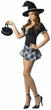 Sexy School Girl Witch Halloween Fancy Dress Costume Dress Outfit