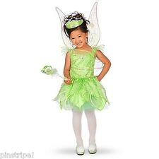NEW Disney Store Fairies Tinkerbell Costume Dress Glows in the Dark SOLD OUT