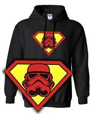 Sweatshirt Hoodie * SUPER TROOPER * Parody Satire clone super wars VS star man