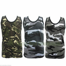 King Size Mens Camouflage Military Army Print Combat Muscle Vest - British DPM