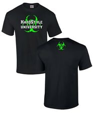 T-Shirt * HARDSTYLE UNIVERSITY hardcore techno gabber moh NEON house biohazard