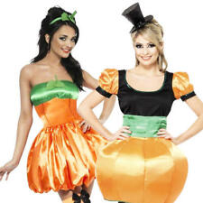 Sexy Halloween Pumpkin Ladies Fancy Dress Party Costume Outfit + Tights UK 8-16