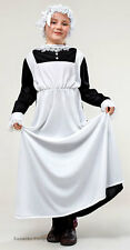 Victorian Edwardian Maid Girls Costume History Outfit Dress Hat New 6-8-9-12 NEW