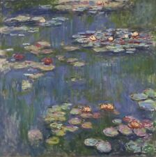 Water Lilies Claude Monet Unknown Repro Art Photo/Poster Print Satin/Canvas/Matt