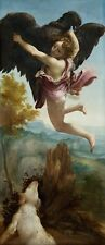 Abduction Ganymede Antonio Allegri Called Correggio 1540 Vintage-Art Poster/