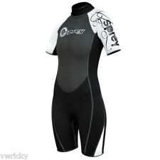 Osprey Black White OSX Childs Shortie Wetsuit 10 Sizes