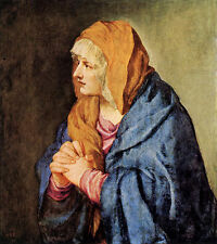 Art Print - Mater Dolorosa With Clasped Hands - Titian 1495 1576
