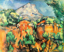 Art Photo Print - Mont Sainte Victoire From Bibemus Quarry - Paul Cezanne 1860 1