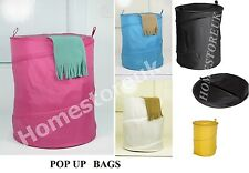 FOLDABLE POP UP LAUNDRY BIN HAMPER WASHING BAG BASKET TIDY TOY CLOTHES STORAGE