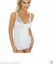 NEW MISS MARY OF SWEDEN WHITE UNDERWIRED LACEY BODY 3887