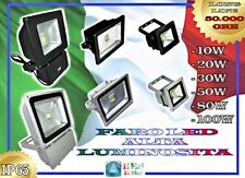 FARO FARETTO LED ALTA LUMINOSITA 10W 20W 30W 50W 80W 100W IP65 ALTA QUALITA