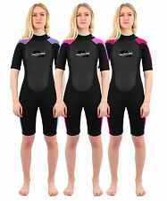 Two Bare Feet SUPAFLEX II SHORTY Womens Wetsuit - 3/2mm Surf Diving Ladies