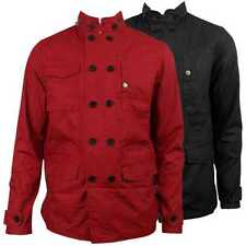 Ben Sherman Mens Retro Mod Double Breasted Jacket Military Indie Styling Coat