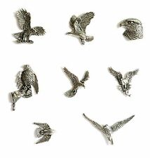 Falconry Bird of Prey Theme Pewter Fridge Magnets  Eagles Hawks MULTI LISTING