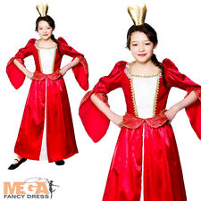 King cape crown medieval queen boys girls childs royal outfit costume