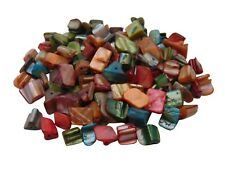 Strands of Shell Nugget Beads Mixed Colour 8mm x 6mm Jewellery * Pick Quantity *