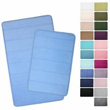 Microfibre Memory Foam Bathroom Shower Bath Mat With Non Slip Back - 22 Colours