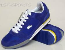 LACOSTE MENS TRAINERS, SHOES SMASHBACK SN BLUE SUEDE / TEXTILE UK 8 to 8.5