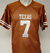 NEW Youth Kids NIKE Texas LONGHORNS Rust Stitched Sewn NCAA #7 Football Jersey