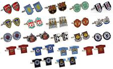 OFFICIAL FOOTBALL CLUB - CUFFLINKS - Crest & Shirt Shaped (Free UK Delivery)