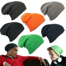 MB GORRO LARGO GORRO SLOUCH INVIERNO UNISEX HOMBRES MUJERES 6 COLORES