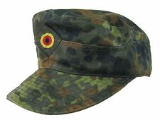 German Army Hat FLECKTARN CAMO FIELD CAP All Sizes Spot Camouflage Military Peak