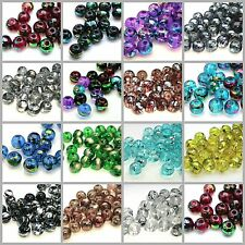 100 Pcs - 8mm Round Glass Drizzle Drawbench Beads Various Colour 's Craft ML