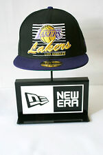 New Era 59FIFTY Los Angeles Lakers Yellow Logo Fitted Purple Hat Baseball Cap
