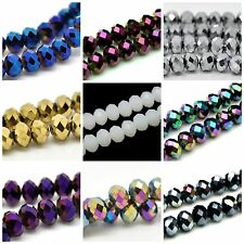 1 Strand Faceted Rondelle Crystal Beads 8mm Approx 72 Beads Jewellery Beading ML