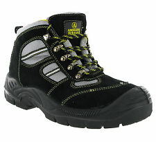 Amblers FS110 Safety Steel Toe Cap Midsole Black Mens Hiking Work Boots UK3-12