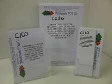 LEAFLET HOLDERS A4, A5 & DL (1/3rd A4) COUNTER STAND CLEAR PLASTIC MENU DISPLAYS