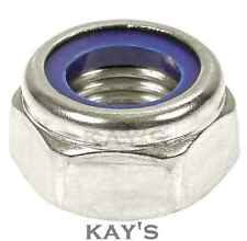 "Metric Hexagon ""Nyloc"" Nylon Insert Locking Nuts Bright Zinc Plated Grade 6"