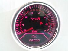 52mm Car Auto Gauge Meter OIL PRESSURE Smoked Effect Super white back Light