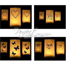 10 Luminaria Paper Candle Lantern Bags Tea Light Holder Wedding Party BBQ'S