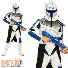 Clone Trooper Rex Star Wars Boys Fancy Dress Kids Costume Outfit + Mask Age 3-10