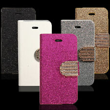 Bling Strass Aimant Cuir Housse Coque Etui Portefeuille Support Pr iPhone Nokia