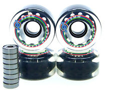 Longboard Rolle Kryptonics Classic 65mm / 78A ABEC Lager Set Ersatzrolle CLEAR