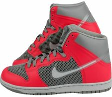 MENS NIKE DUNK HI HYPERFUSE PREMIUM MENS TRAINERS, SHOES, GREY RED UK 8 to 9