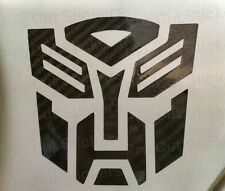 Transformers Autobots Stickers Small to Large Sizes Carbon Fibre Vinyl Decals